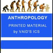 ANTHROPOLOGY Printed Material VAID'S ICS for IAS & PCS