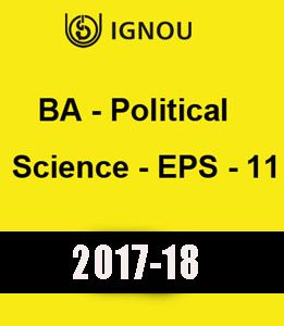 IGNOU BA Political Science EPS 11 Downloadable Version