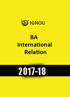 IGNOU- BA International Relation -2017