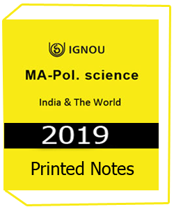 Printed Notes of IGNOU MA Pol Science India & The World Downloadable