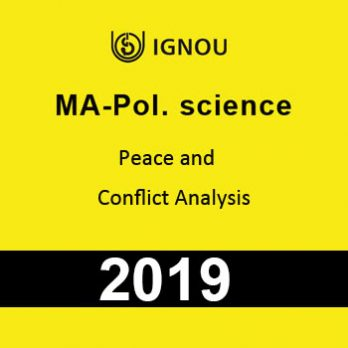 MA Pol Science Peace and Conflict Analysis