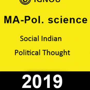 MA Pol Science Social Indian Political Thought