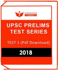 Insights IAS UPSC Prelims Test Series-1 Downloadable Version