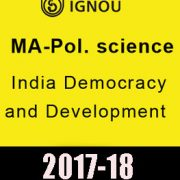 IGNOU MA Pol.Science India Democracy & Development
