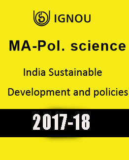 IGNOU MA Pol Science India Sustainable Development & Policies