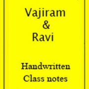 General Studies Class Notes-Vajiram & Ravi