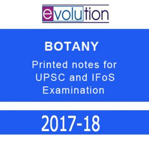 EVOLUTION BOTANY printed notes for UPSC and IFoS examination