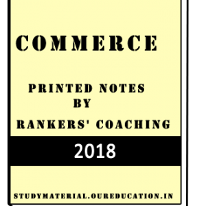 Printed Notes of Commerce by Rankers' Coaching