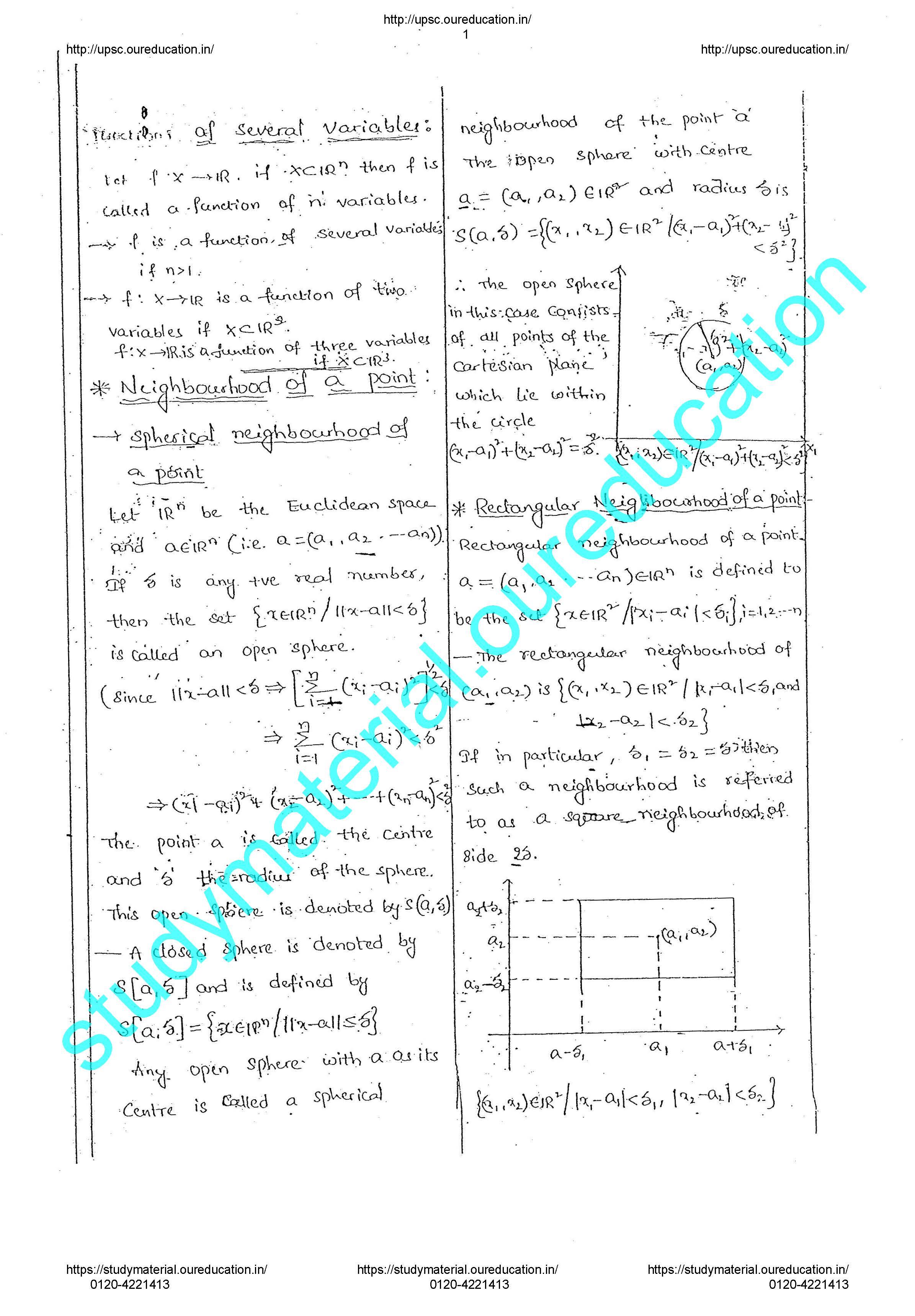 Mathematics K Venkanna IAS and IFOS Notes IMS Delhi