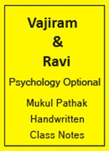 Vajiram-Psychology Optional-Mukul Pathak-Handwritten Class Notes