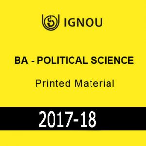 IGNOU-BA-Political Science-Printed Material
