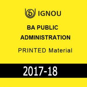 IGNOU BA Public Administration Printed Material
