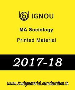 IGNOU MA SOCIOLOGY PRINTED MATERIAL