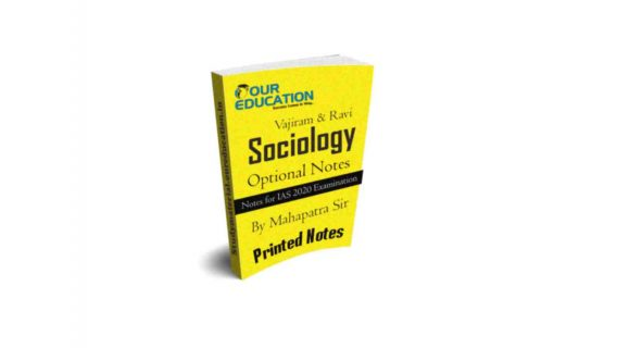 Printed Notes of Vajiram & Ravi Sociology Optional Notes for IAS exam