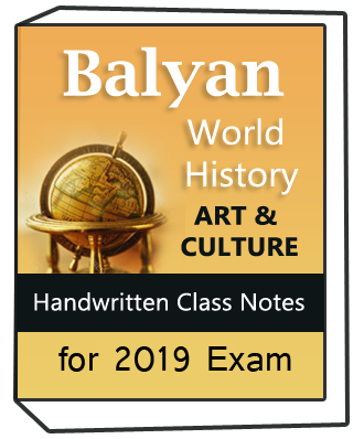 Printed Notes of Balyan World History and Art & Culture Handwritten class notes Combo