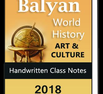 Balyan World History and Art & Culture Handwritten class notes Combo