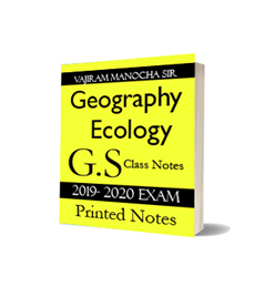 Printed Notes of Vajiram Manocha Sir G.S Class Notes Geography Ecology