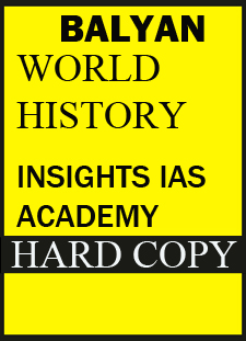 S.BALYAN Insights IAS Academy World History(GS) Handwritten Class Notes 2015