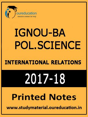 IGNOU-BA Political. Science- International Relation