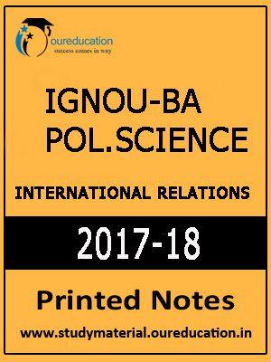 IGNOU-BA Political. Science- International Relation