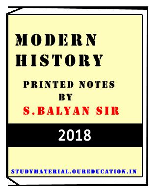 Modern History GS Balyan Sir