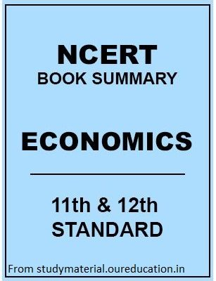 NCERT Economy Book Summary – 11th and 12th standard