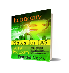 Printed notes of Economy Notes by Nitin Sangwan (IAS)