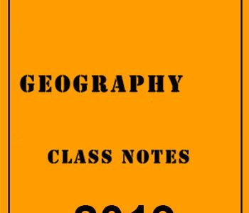 Geography Class Notes