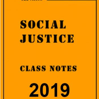 Social Justice Class Notes