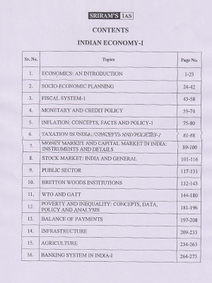 Indian Economy Printed Notes - Pavan Kumar