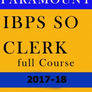 IBPS SO Full Course for Other Banking Exam-Paramount
