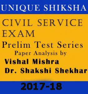 Prelims Test Series Unique Shiksha IAS