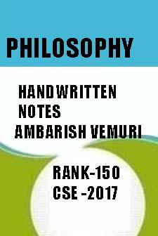 PHILOSOPHY Handwritten Notes-Ambarish Vemuri