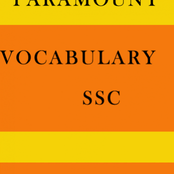 Vocabulary Printed Notes for SSC Paramount
