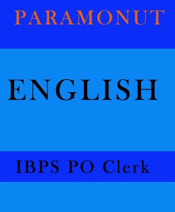 English Printed Notes for IBPS PO Clerk Paramount
