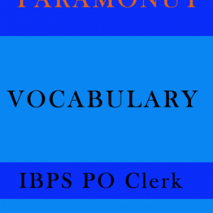 Vocabulary Printed Notes for IBPS PO Clerk Paramount