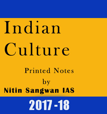 Indian Culture Printed Notes by Nitin Sangwan IAS