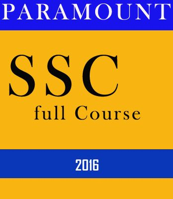 SSC full Course Paramount-2016