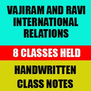 Vajiram International Relations Mains