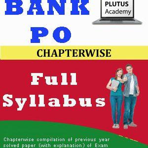 Bank PO (Pre-Mains) full syllabus & Exam Pattern