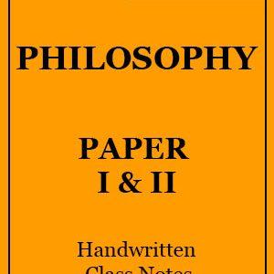 Patanjali IAS Philosophy Paper 1&2 Hindi Medium Handwritten Notes