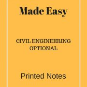 Made Easy Optional Class Notes - Civil Engineering