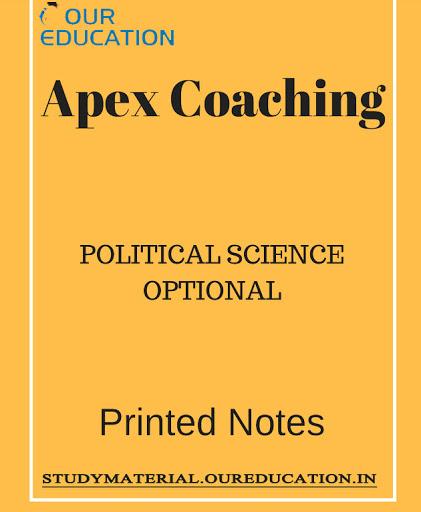 Political Science Optional Hindi Medium Printed Notes -Apex Coaching