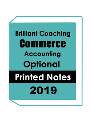 Commerce-Accounting Optional-Printed Notes