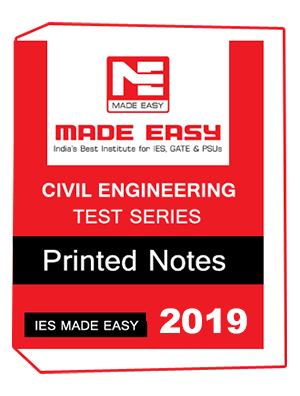 CIVIL ENGINEERING TEST SERIES, CIVIL ENGINEERING TEST SERIES IES MADE EASY, ies notes, MADE EASY notes, study material by made easy, study material for ies, TEST SERIES by made easy, TEST SERIES for IES MADE EASY