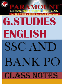 GENERAL STUDIES and ENGLISH CLASS NOTES PARAMOUNT