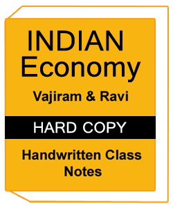 Indian Economy- Handwritten Class Notes by Vajiram And Ravi