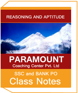REASONING AND APTITUDE CLASS NOTES PARAMOUNT