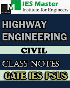 Highway Engineering Class Notes IES Master