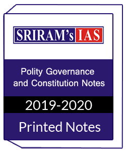 Printed Notes of SRIRAM IAS-Polity Governance and Constitution Notes
